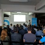 Jason Munn presenting at Melbourne SEO Meetup